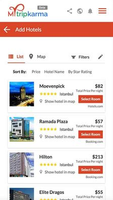 Mytripkarma Hotel Search