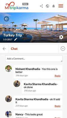 Mytripkarma Chat